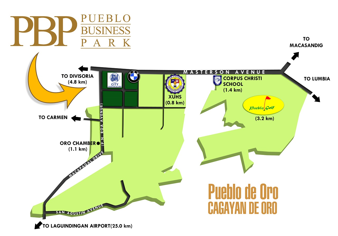 Map of the Pueblo Business Park