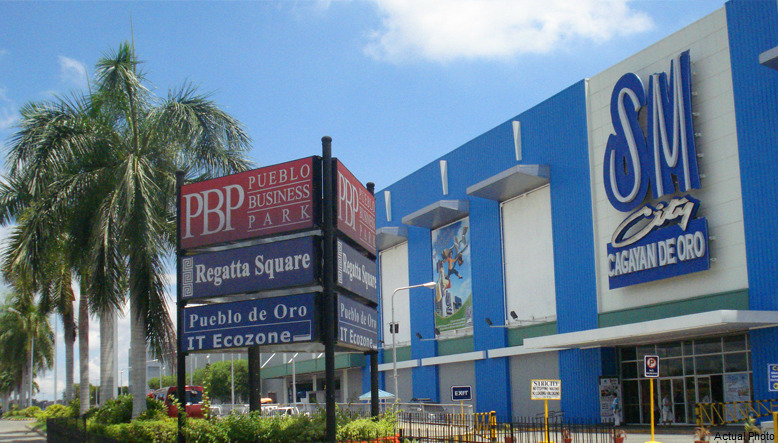 Outside sign of the Pueblo Business Park in the Philippines
