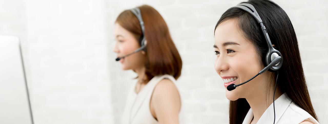 A call center businesswoman